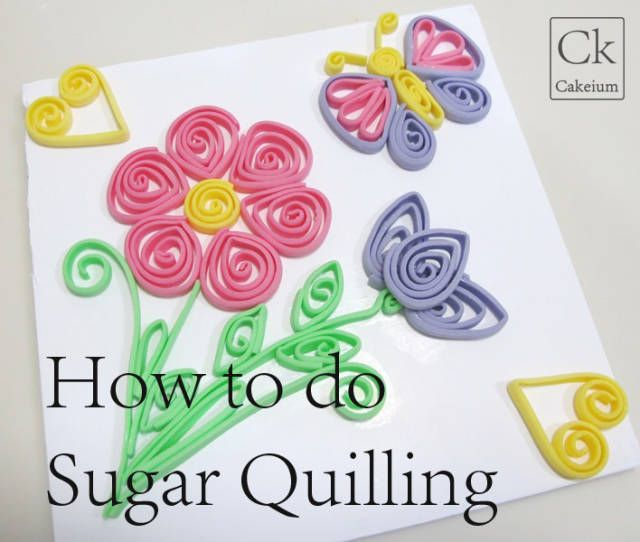 How to do Sugar Quilling-Beginners Guide - CakesDecor