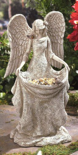 Grasslands Road Angel Bird Feeder, 14-Inch, Gift Boxed