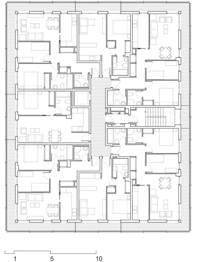 Social Housing at Boera Park / Peñín Architects + OAB + Edifica,Plan 03