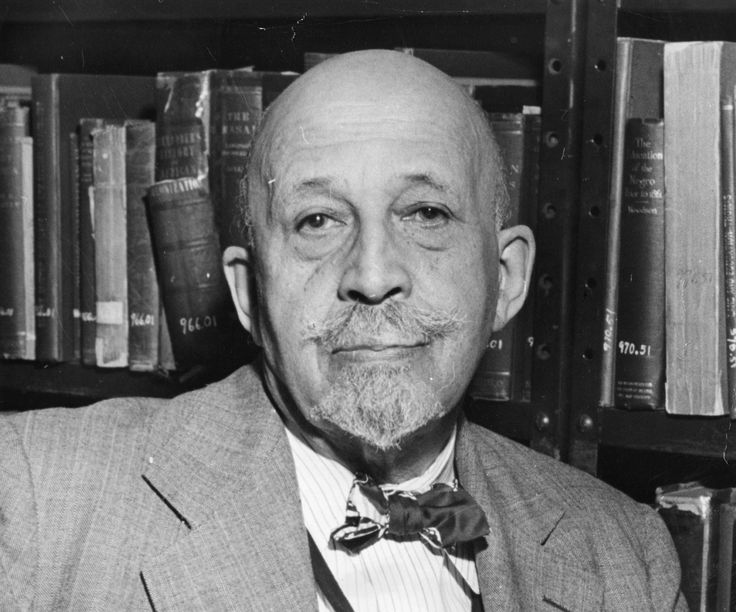 Dr. William Edward Burghardt Du Bois (1868 - 1963), first African-American to earn a Ph.D from Harvard University (in History), co-founder of the National Association for the Advancement of Coloured People (NAACP) and highly-regarded scholar of African-American history.