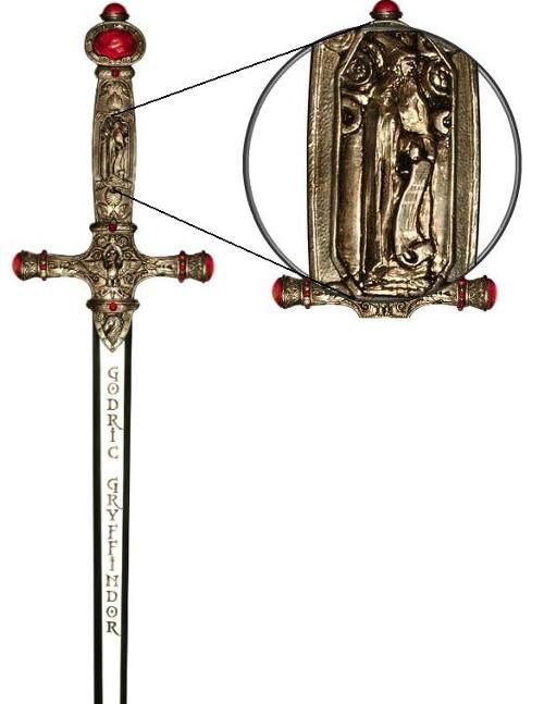 The Sword of Gryffindor was a thousand year old, goblin-made sword owned by the famed wizard Godric Gryffindor, one of the four founders of Hogwarts School of Witchcraft and Wizardry. The sword was made to Gryffindor's specifications by Ragnuk the First, King of the Goblins. When it was finished, Ragnuk coveted it so much that he pretended Gryffindor had stolen it from him and sent minions to steal it back; however, Gryffindor bewitched the minions rather than killing them, and sent them...