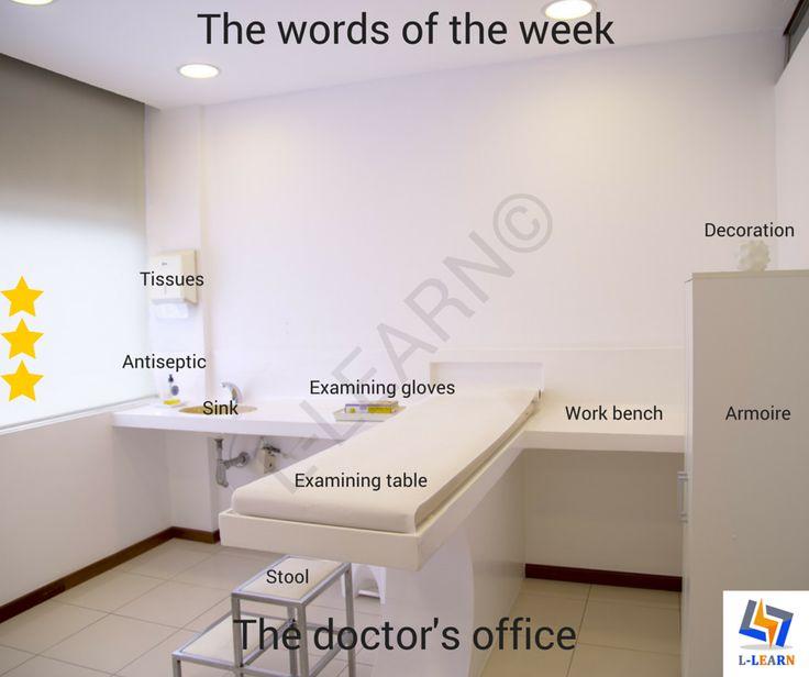 Doctor's office.  #Αγγλικά #αγγλικές #λέξεις #αγγλική #γλώσσα #λεξιλόγιο #English #english #words #english #language #vocabulary #LLEARN