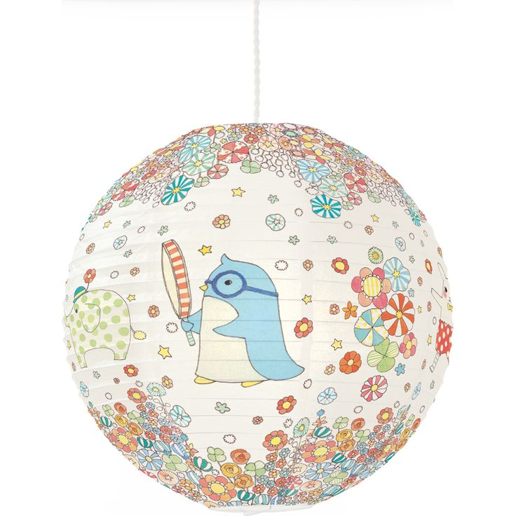 Lanterne en papier Pingouin et ses amis - Little Big Room by Djeco