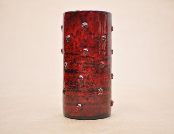 Italian potter  Red vase  Fratelli Fanciullacci  by Vaseomania