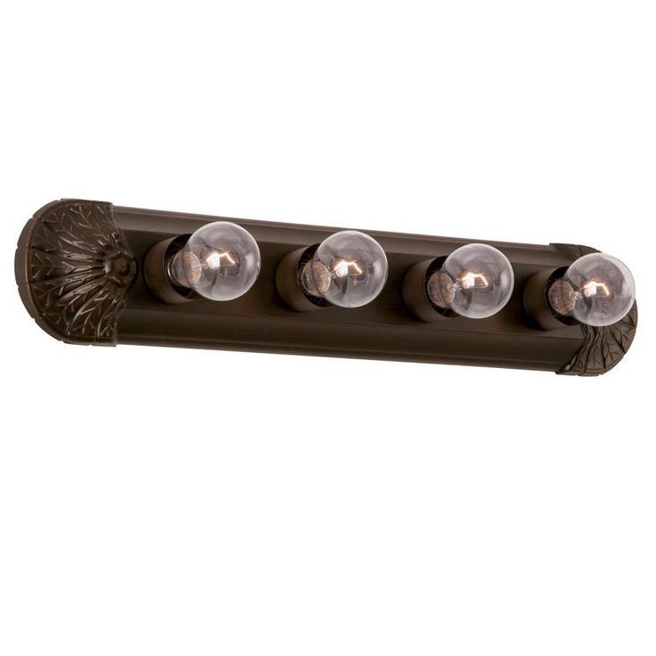 Project Source 4-Light Oil-Rubbed Bronze Standard Bathroom Vanity Light Bar | Lowe's Canada