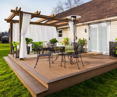 Brand-new Simonton patio doors, décor, and more—check out these terrific - 25+ Best Ideas About Wood Patio On Pinterest Wood Deck Designs
