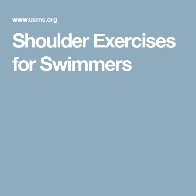 Shoulder Exercises For Swimmers