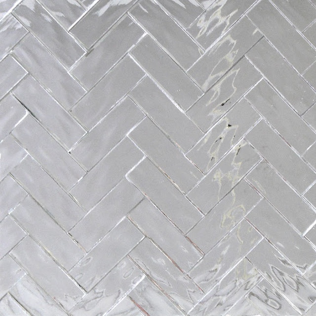 "Painting Bathroom Wall Tiles Ripple Mirror 1"" X 3"" Herringbone From Mixed-up Mosaics"