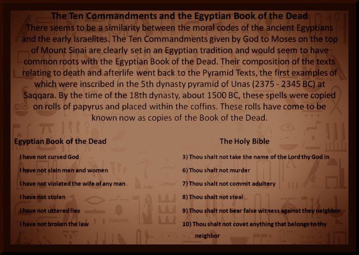 book of the dead ten commandments