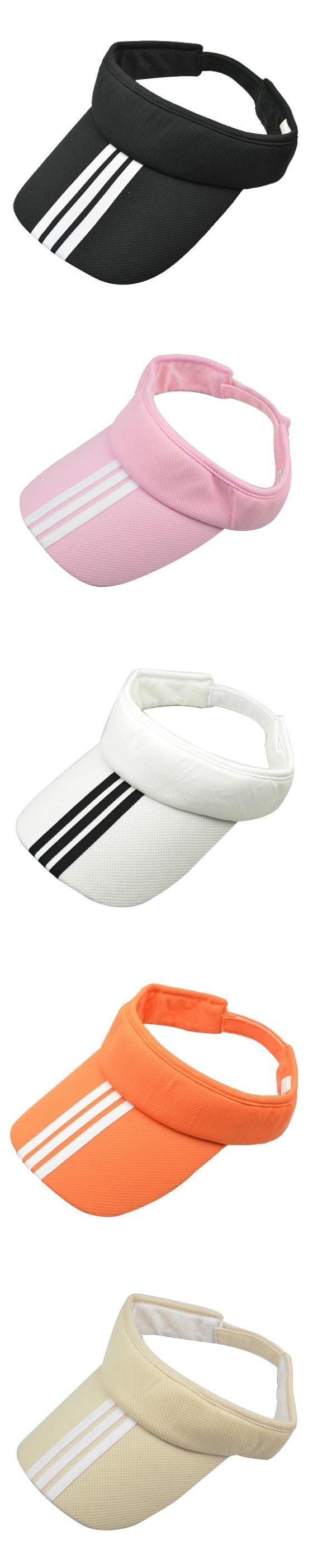 Tennis Golf Sun Visor Hat Hats Adjustable Plain Bright Color Men Women red