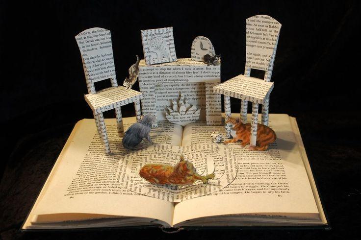 My Five Tigers book sculpture by Jodi Harvey-Brown
