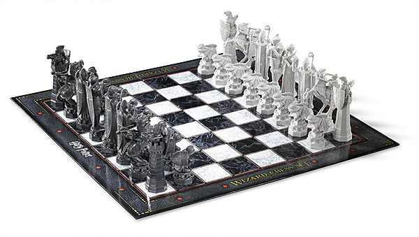 Practice your Wizard's Chess so you can finally defeat Ron Weasley! The Harry Potter Wizard Chess Set has pieces like in the movies for you to command (and then manually move). No Reparo spell required!