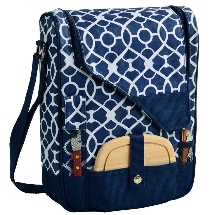 Picnic At Ascot Pinot Wine and Cheese Cooler for 2 - Pack your picnic essentials in one lightweight package with the Picnic at Ascot Pinot Wine and Cheese Cooler for 2. This handsome tote bag comes outfi...