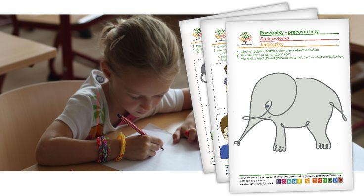 Pracovní listy na www.uceni-v-pohode.cz pro rozvoj sluchového vnímání.