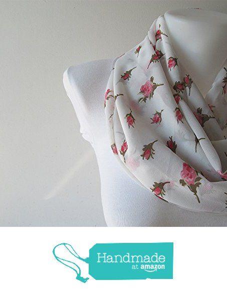 Rose Infinity Scarf, Pink Rose Pattern Chiffon Scarf, White Circle Scarf, Women Scarf, Loop Scarf, Fall Winter Spring Summer Fashion from NaryaBoutique https://www.amazon.com/dp/B01M0ZT3WO/ref=hnd_sw_r_pi_dp_gAU9xbEQ7HD3B #handmadeatamazon