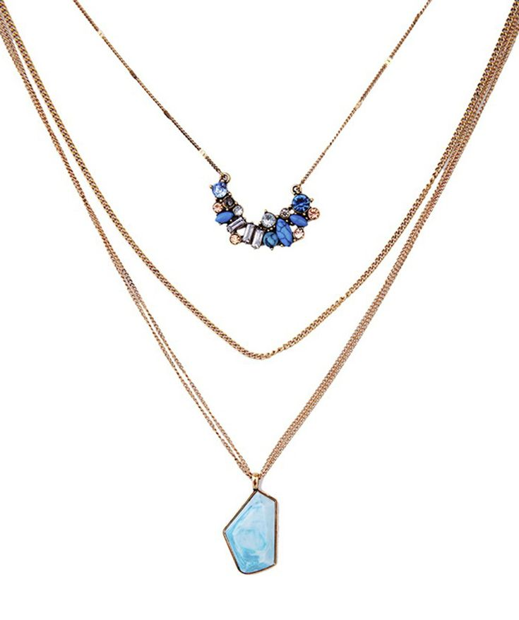 Summer : Aquarelle 3 Layers Necklace