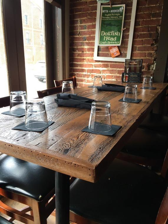 Reclaimed Wood Dining Table Farmhouse Industrial Table Legs Etsy