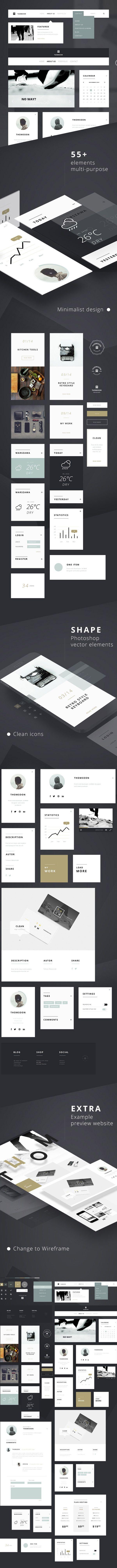55+ FREE UI Elements PSD