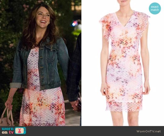Lorelai's eyelet dress on Gilmore Girls: A Year in the Life.  Outfit Details: https://wornontv.net/62679/ #GilmoreGirls