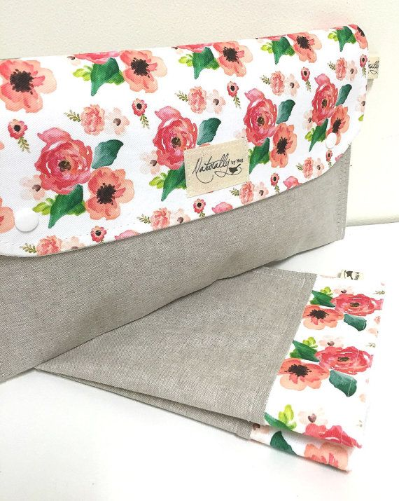 Nappy wallet Diaper clutch and Change mat/pad by naturallybymeg