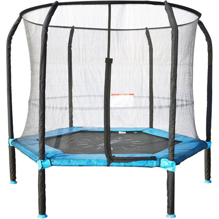 Springless Hoppy Trampoline Jumping Mat with Net | Buy 7ft Trampoline