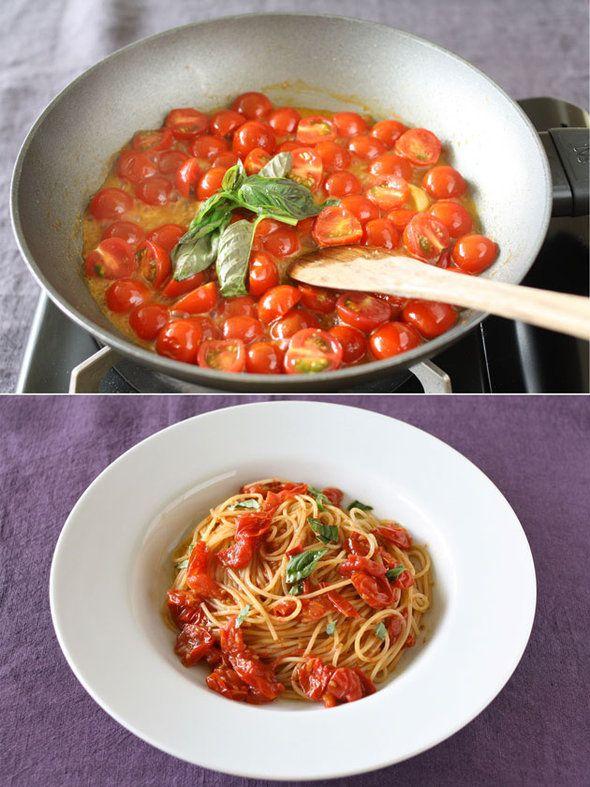 普段は市販のパスタソースに頼りがちという人もぜひトライしてほしい、簡単&本格的なトマトソースを伝授!
