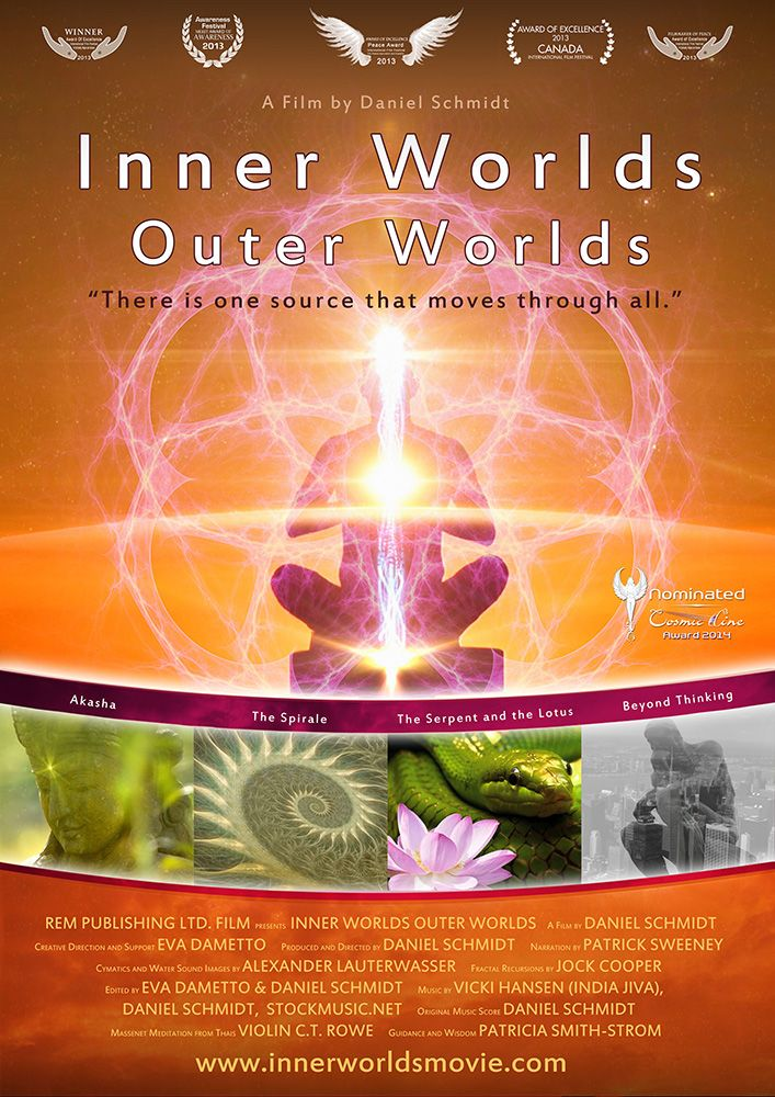 Inner Worlds, Outer Worlds is a documentary film created by Canadian film maker and meditation teacher Daniel Schmidt. The film was released in 2012.  The film was released for free online. It has been narrated in English, French, Spanish, German and Hindi and there are subtitles for 17 languages. The movie won a number of awards at film festivals, including the Award of Excellence at the Canada International Film Festival.