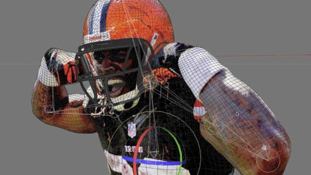 Project created by Charlie Co for NFL Network. image to 3d making