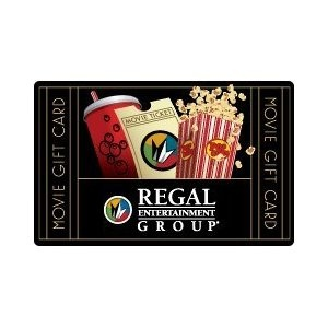 Regal Entertainment Group Gift Card Collection --- http://www.amazon.com/Regal-Entertainment-Group-Gift-Card/dp/B002QFZGK6/?tag=jayb4903-20
