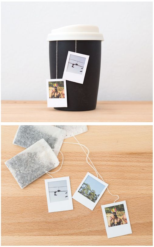 DIY: Elevate the art of Tea Time with custom Polaroid Tea Bag Tags. They're easy to make and just about the cutest thing! @Elisabeth Ingram Herriman