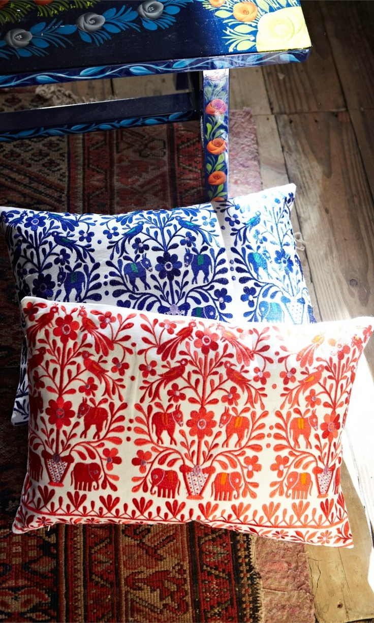 Zari Cushion - Blue - Plümo Ltd