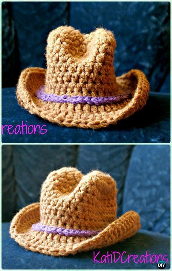 Crochet Wide Brim Cowboy Sun Hat Free Pattern - Crochet Boys Sun Hat Free Patterns