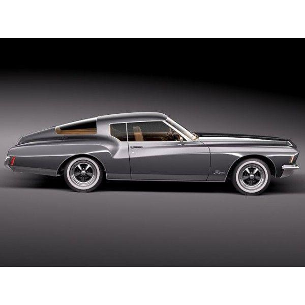 Superbe Buick Riviera GS Boattail 1971 3D Model