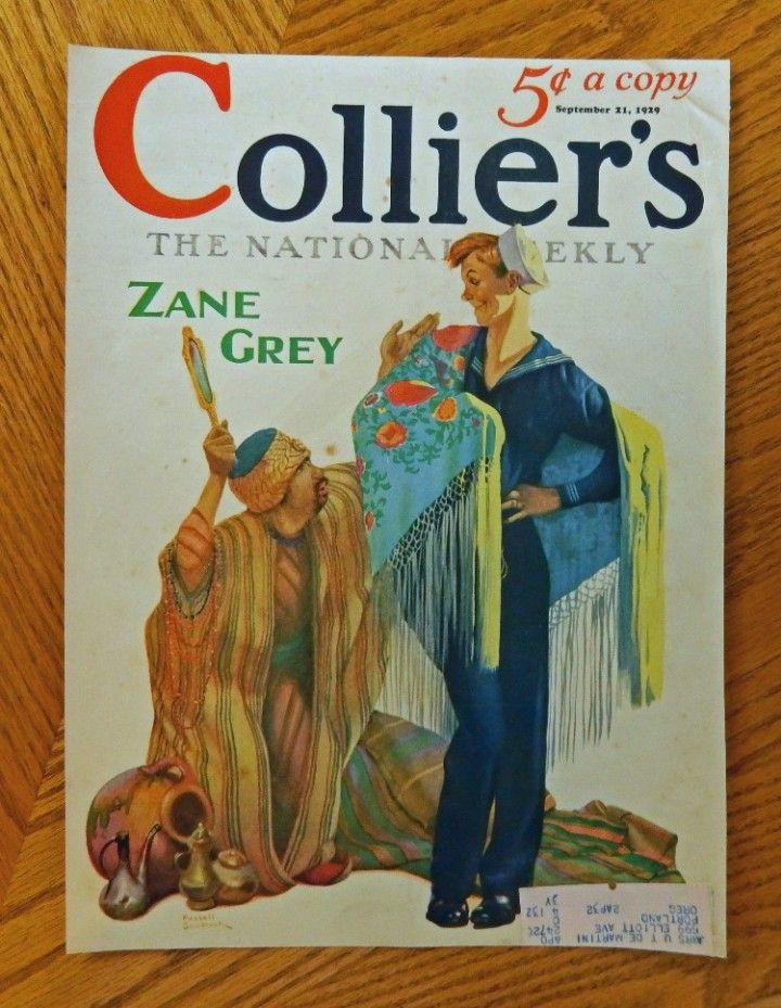1929 September 21  Collier s Magazine  Beautiful Color Cover Illustration