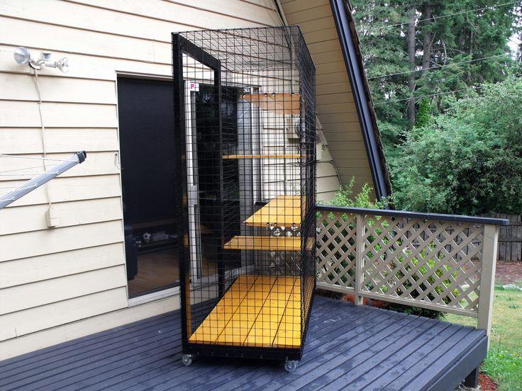 Outdoor cat enclosure on wheels Beautiful World Living