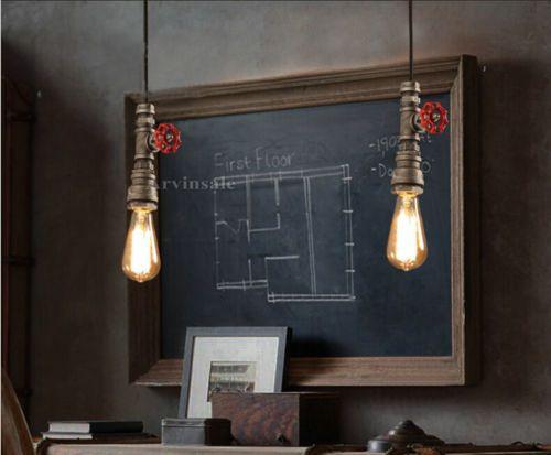 Tubo de industrial Hazlo tú mismo Loft Retro Vintage Luz de Techo Colgante Lámpara Accesorio