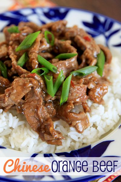 Quick and Easy dinner {Under 30 minutes!}.  Chinese Orange Beef from ourbestbites.com  Healthier, and better tasting than take out!