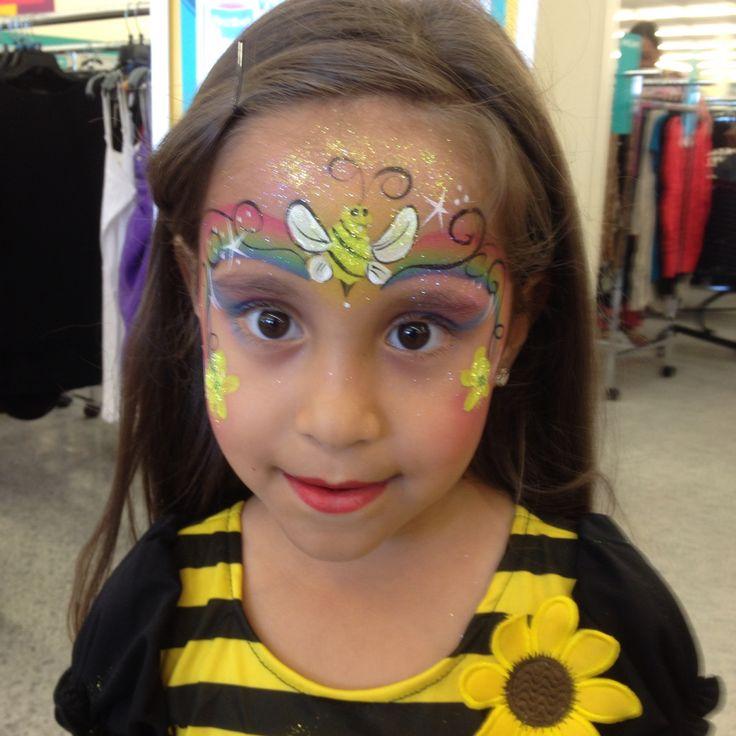 Bumble Bee face paint design, Amazing Face by Amanda Nelson, Orlando Fl