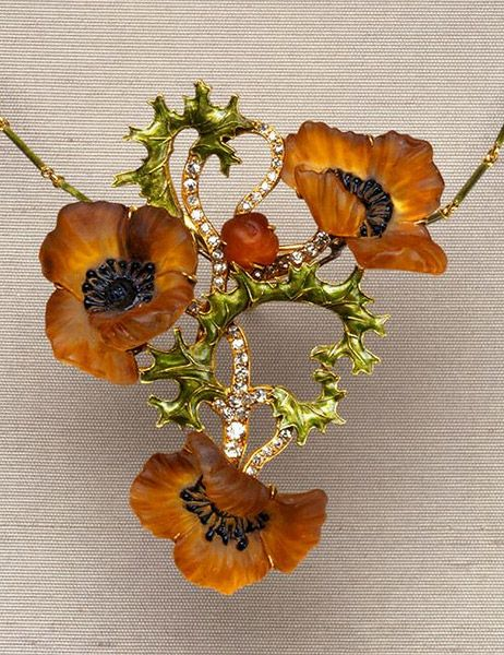 Poppy Necklace by Rene Lalique