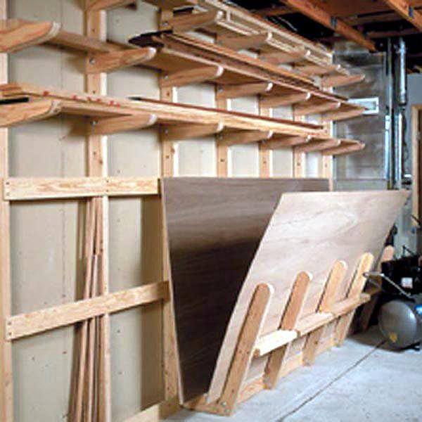Lumber Storage Rack Woodworking Plan - Product Code DP-00135