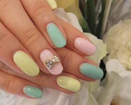 Дизайн разные ногти