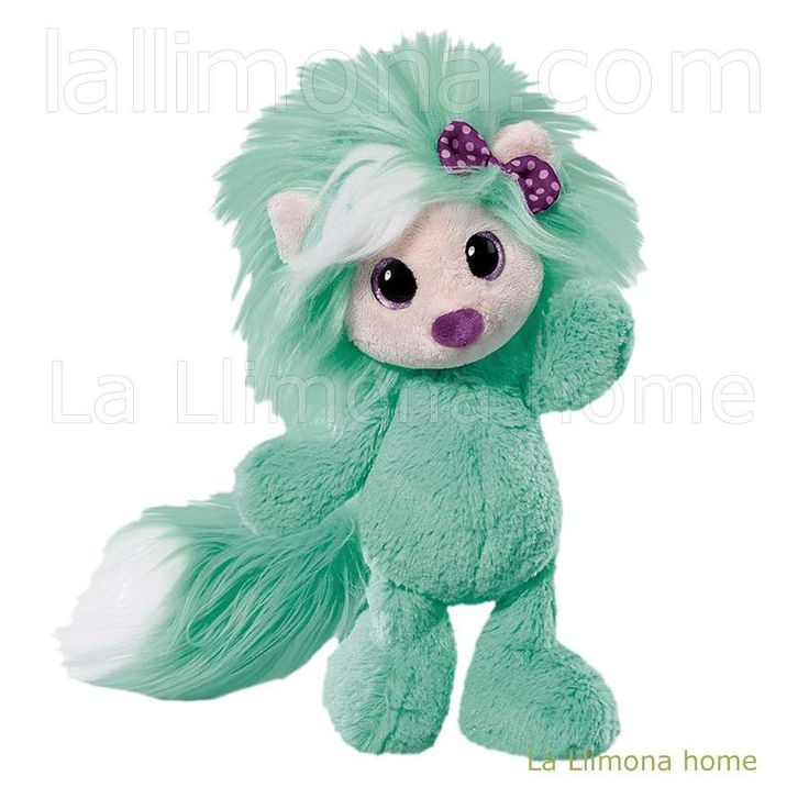 Peluche Nici de la colección Ayumi be you Fun de color verde. Altura: 38 cms. http://www.lallimona.com/online/nici-peluches-y-complementos/