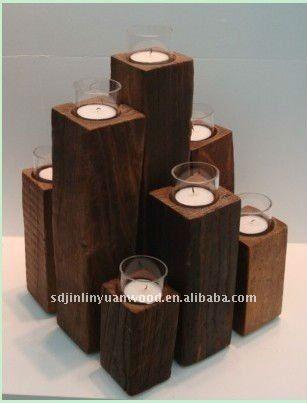 candelabros de madera-Portavelas-Identificación del producto:509121979-spanish.alibaba.com