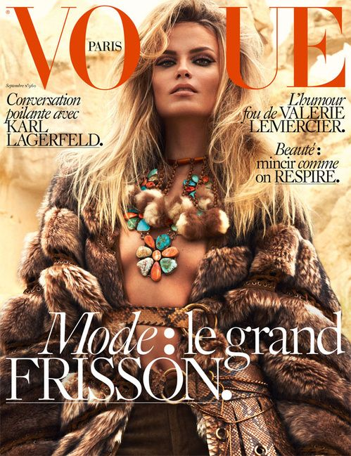 Natasha Poly by Mert & Marcus for Vogue Paris September 2015 | The Fashionography