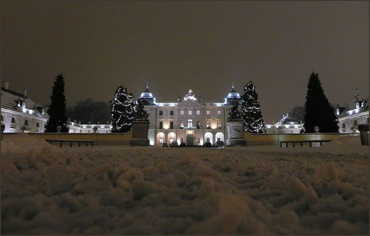 Tuesday January 15, 2013 — Białystok, Poland  Branicki Palace in winter coat! I had to put the camera on the snow in order to take this photo!