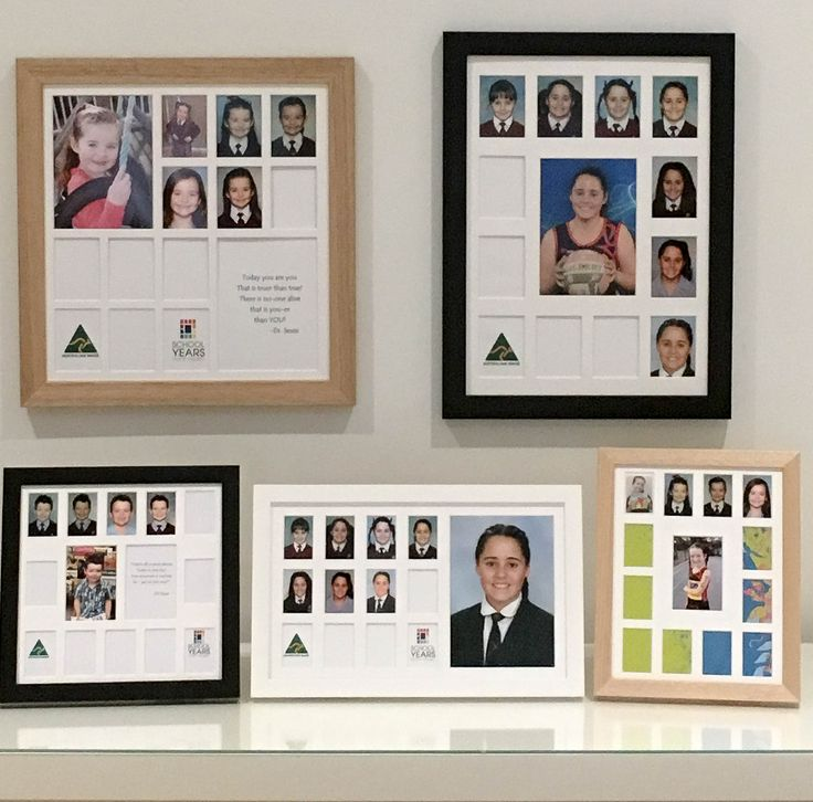 The range of School Years Photo Frames now available online www.schoolyearsphotoframes.com.au