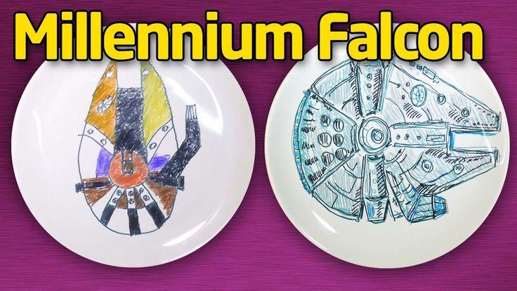 Как нарисовать Тысячелетний сокол (Millennium Falcon). Star Wars на таре...