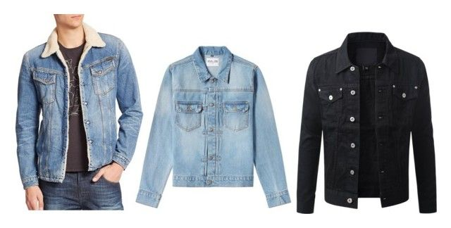 """Jeansjackets"" by arvid-gustafsson on Polyvore featuring Nudie Jeans Co., MKI Miyuki-Zoku, mens, men, men's wear, mens wear, male, mens clothing and mens fashion"