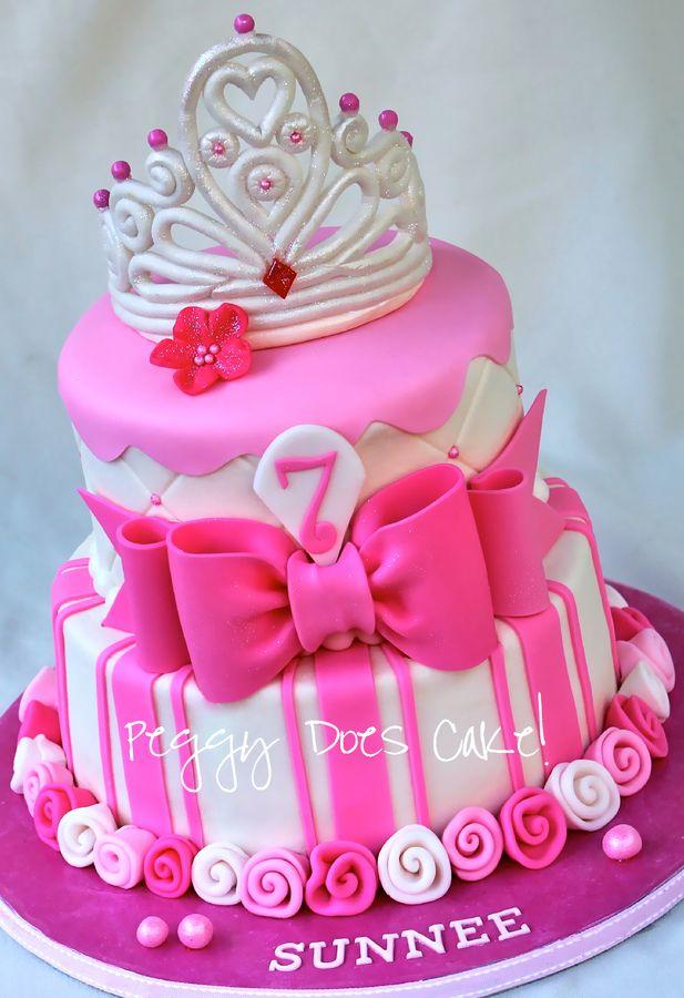 roze prinsessen taart