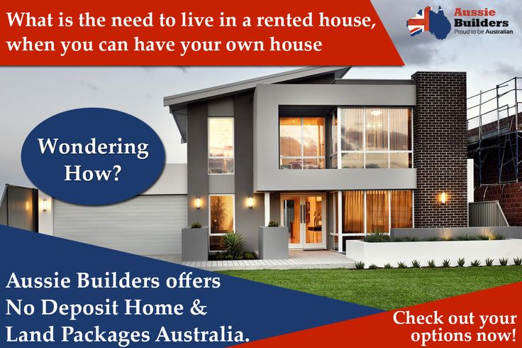 What is the need to live in a rented #house, when you can have your own house? Wondering How? Aussie Builders offers No Deposit Home And Land Packages Australia. Check out your options now!